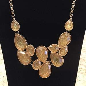 Macy's - Gold Statement Necklace